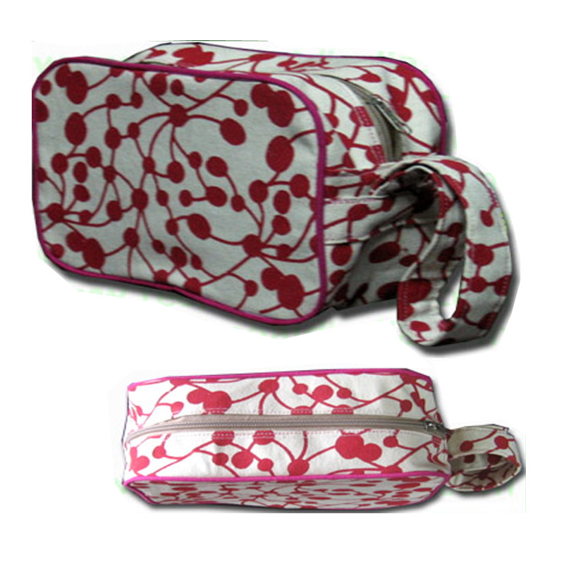 Cotton cosmetic pouch