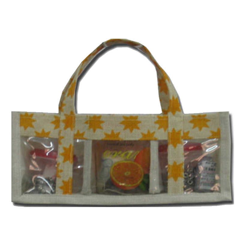 Jute cosmetic bag wholesale